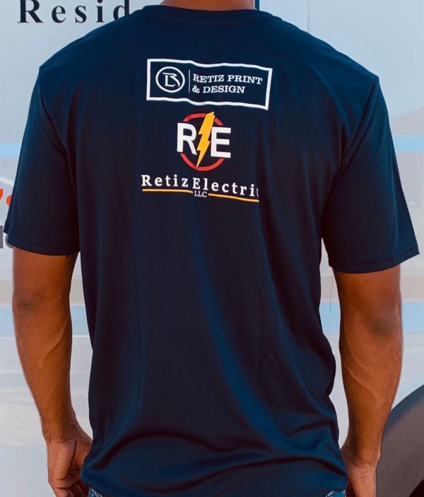 retiz electric tshirt back